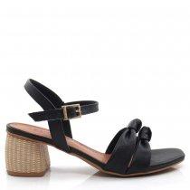 Sandália Salto Grosso Baixo Feminina Usaflex AE1604 Couro