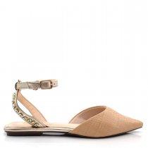 Imagem - Sapatilha Feminina Bico Fino Olfer Shoes 50005-03 Pedras - 004826