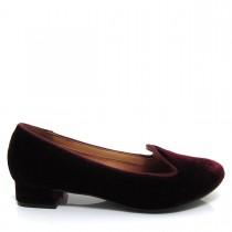 Sapato Feminino Scarpin Slipper Vizzano Salto quadrado Veludo