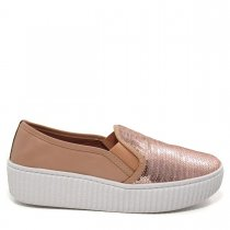 Imagem - Tênis Slip On Feminino Flatform Olfer Shoes 3010PT Paete - 004518