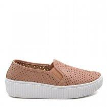 Imagem - Tênis Slip On Feminino Flatform Olfer Shoes 3010 Furadinho - 004523