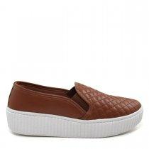 Imagem - Tênis Slip On Feminino Flatform Olfer Shoes 3010M Matelassê - 004521