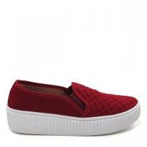 Imagem - Tênis Slip On Feminino Flatform Olfer Shoes 3010M Matelassê - 004522