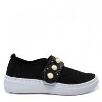 Imagem - Tênis Slip On Feminino Olfer Shoes 1248-012 Pérola - 004553