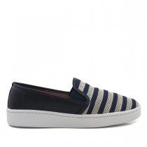 Imagem - Tênis Slip On Feminino Olfer Shoes 2010 Listra - 004524