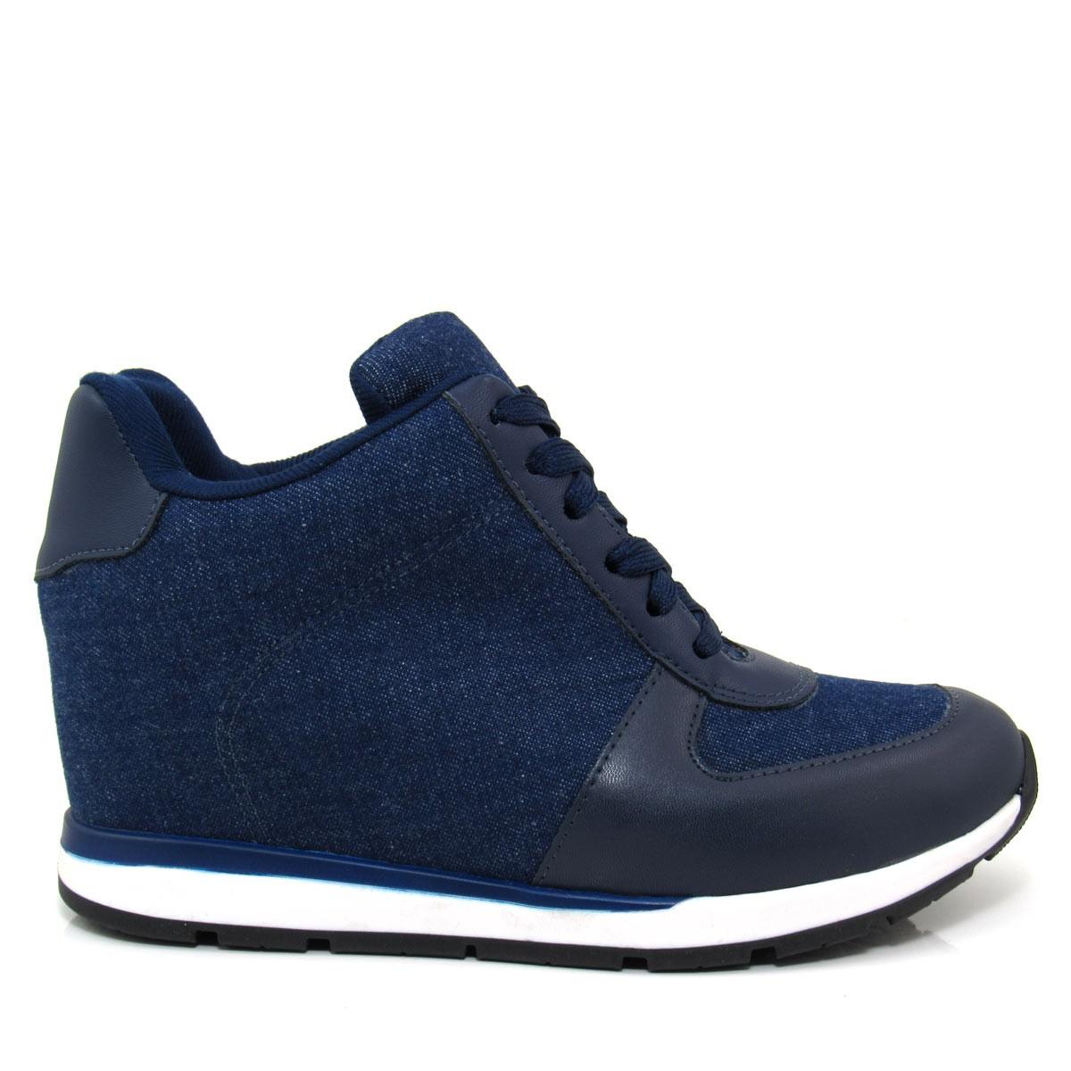 25b7916674d Tênis Sneaker Feminino Vizzano 1226102 Jeans Coleção 2018