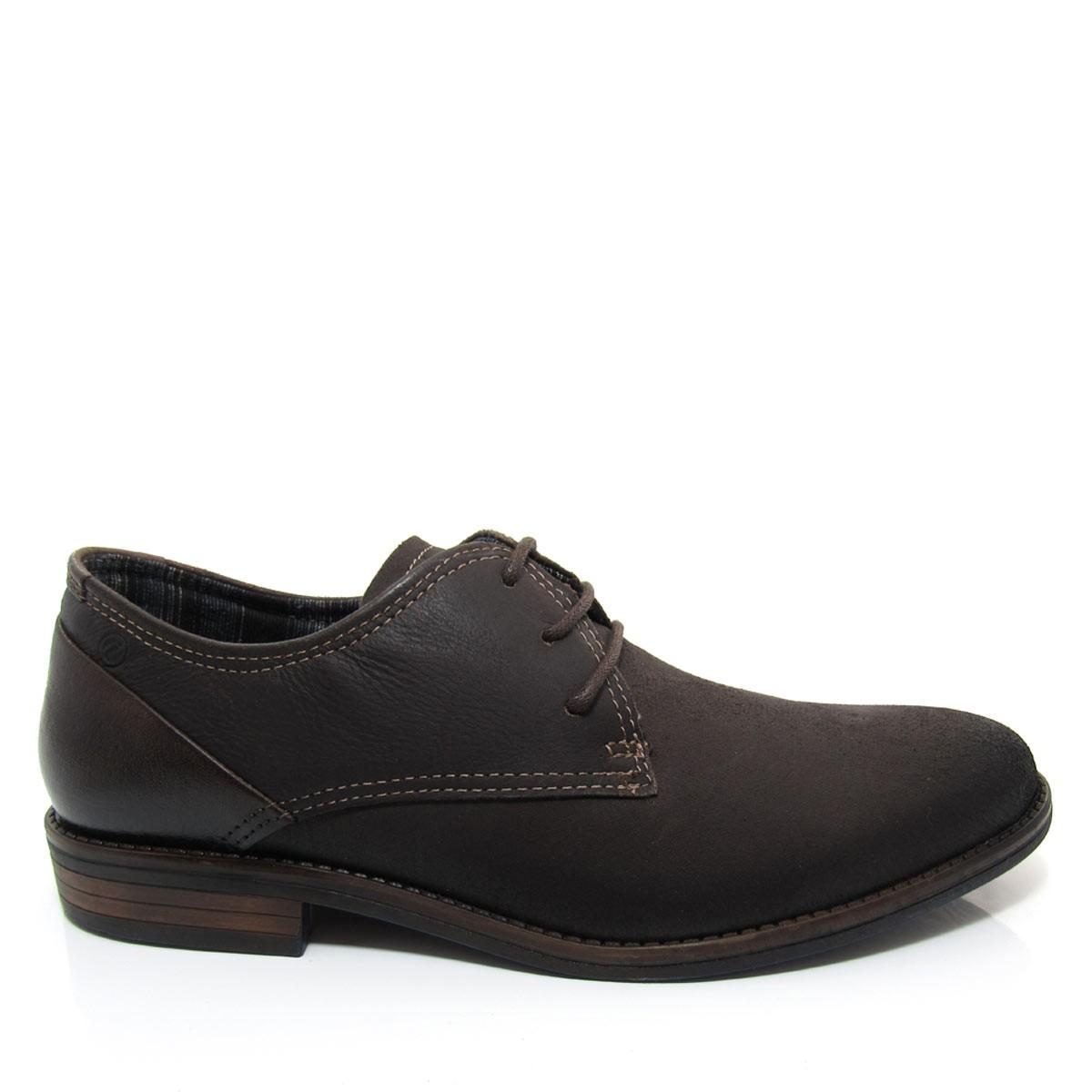 56faf6afd Sapato Casual Masculino Pegada 124501 em Couro Coleção 2018