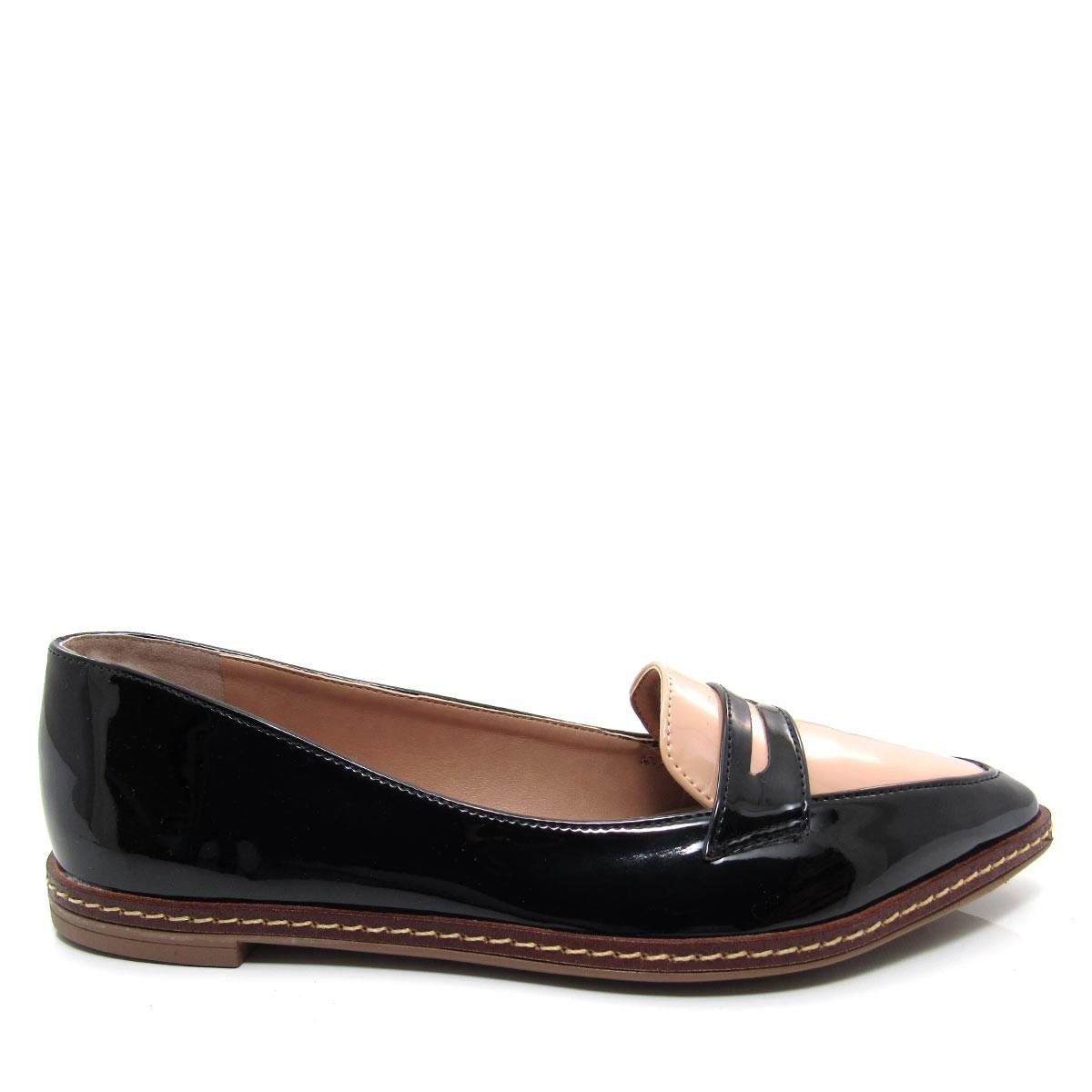 1b31746771 Sapato feminino Mocassim Bico Fino Mariotta 16190-71 Coleção 2018