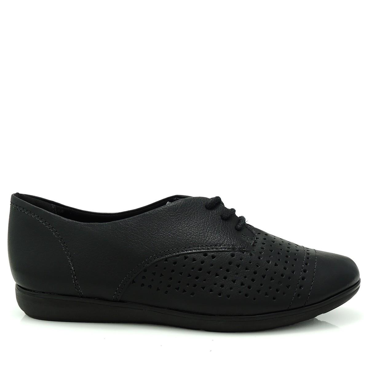 d79e6b4c1 Sapato Feminino Oxford ComfortFlex 1554302 Couro Coleção 2018