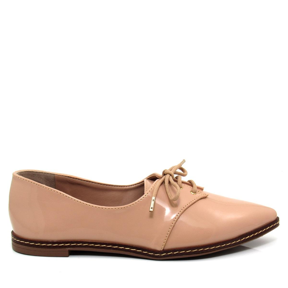 9399801c2 Sapato Feminino Oxford Mariotta 1619074 Verniz Coleção 2018