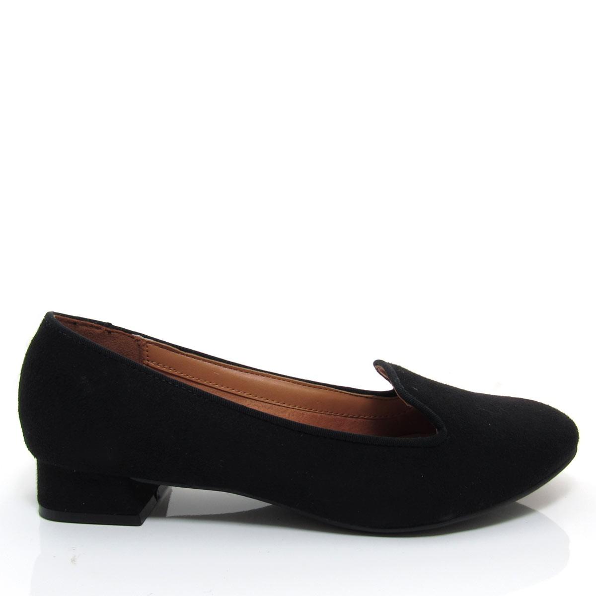 ee02cca8b6 Sapato Feminino Scarpin Slipper Vizzano Salto quadrado Camurça Coleção 2018