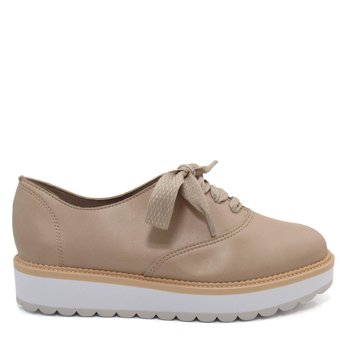 21bb01e5e0 Sapato Oxford Feminino Flatform Beira Rio 4214102 Coleção 2018