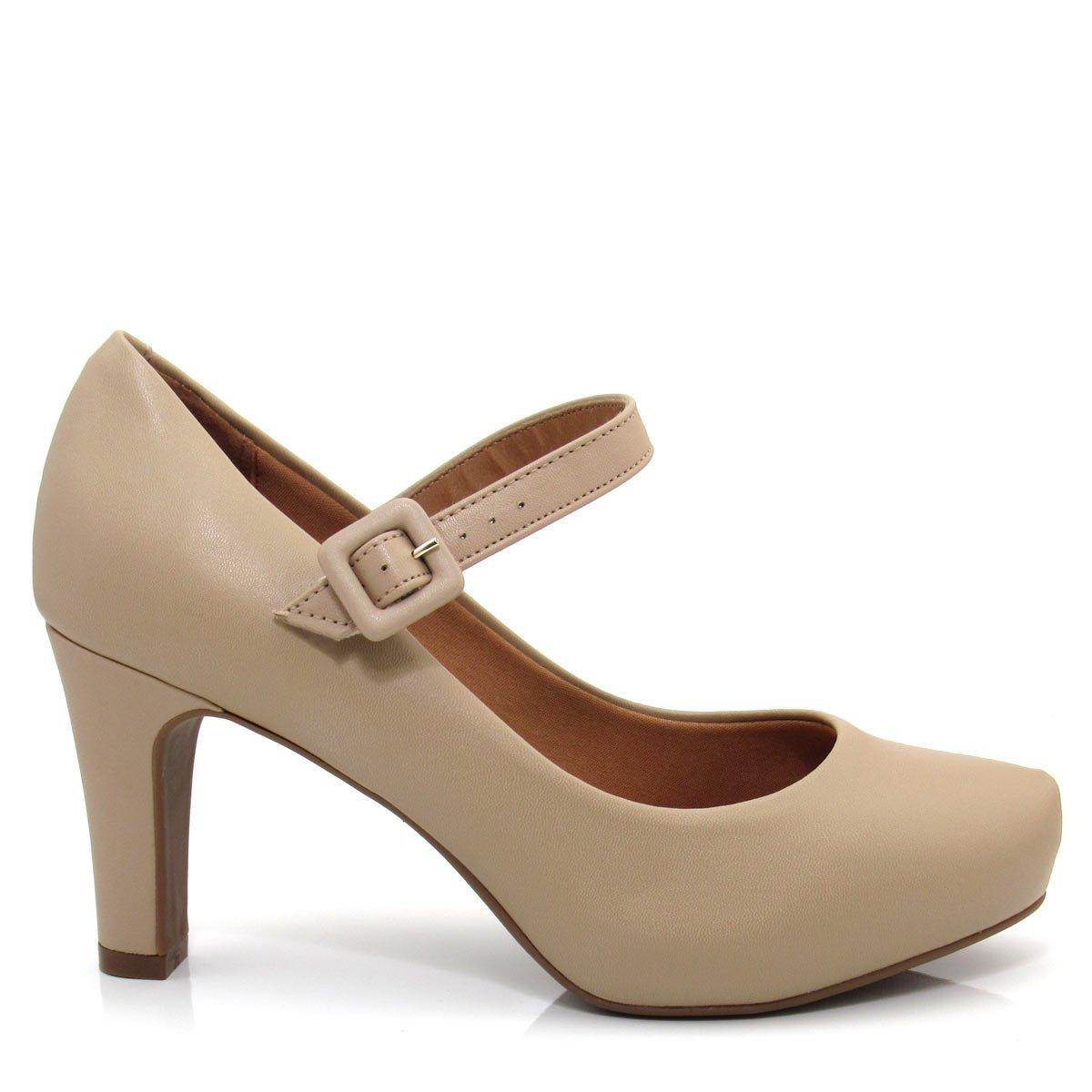 5742d5f2d Sapato Bebê Bisuzinho Feminino Bege Sapato Bebê Boneca Bege: Sapato Scarpin  Feminino Bico Redondo Vizzano 1840103