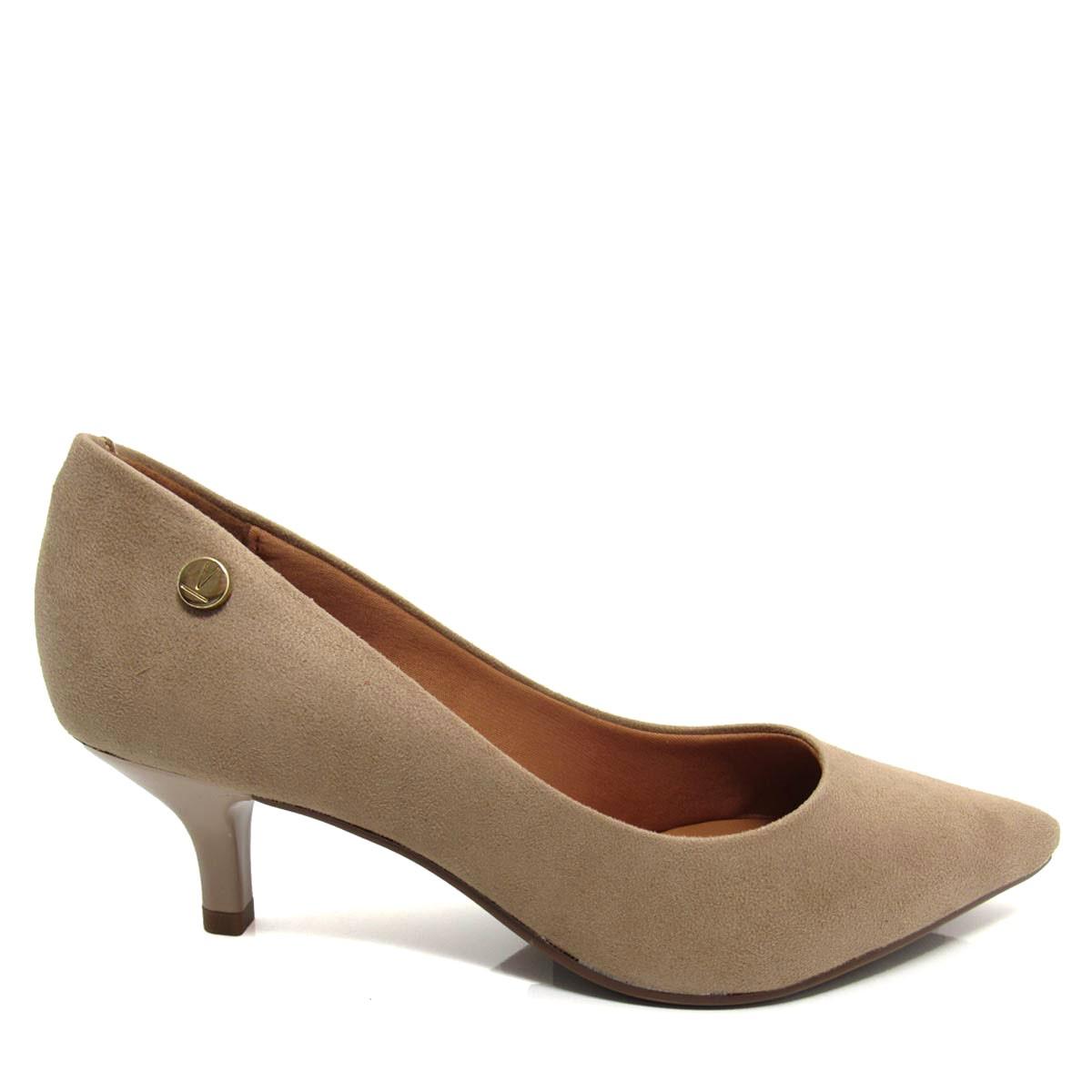 3b18ac697 Sapato Scarpin Feminino Vizzano 1122628 Salto Fino Baixo Coleção 2018