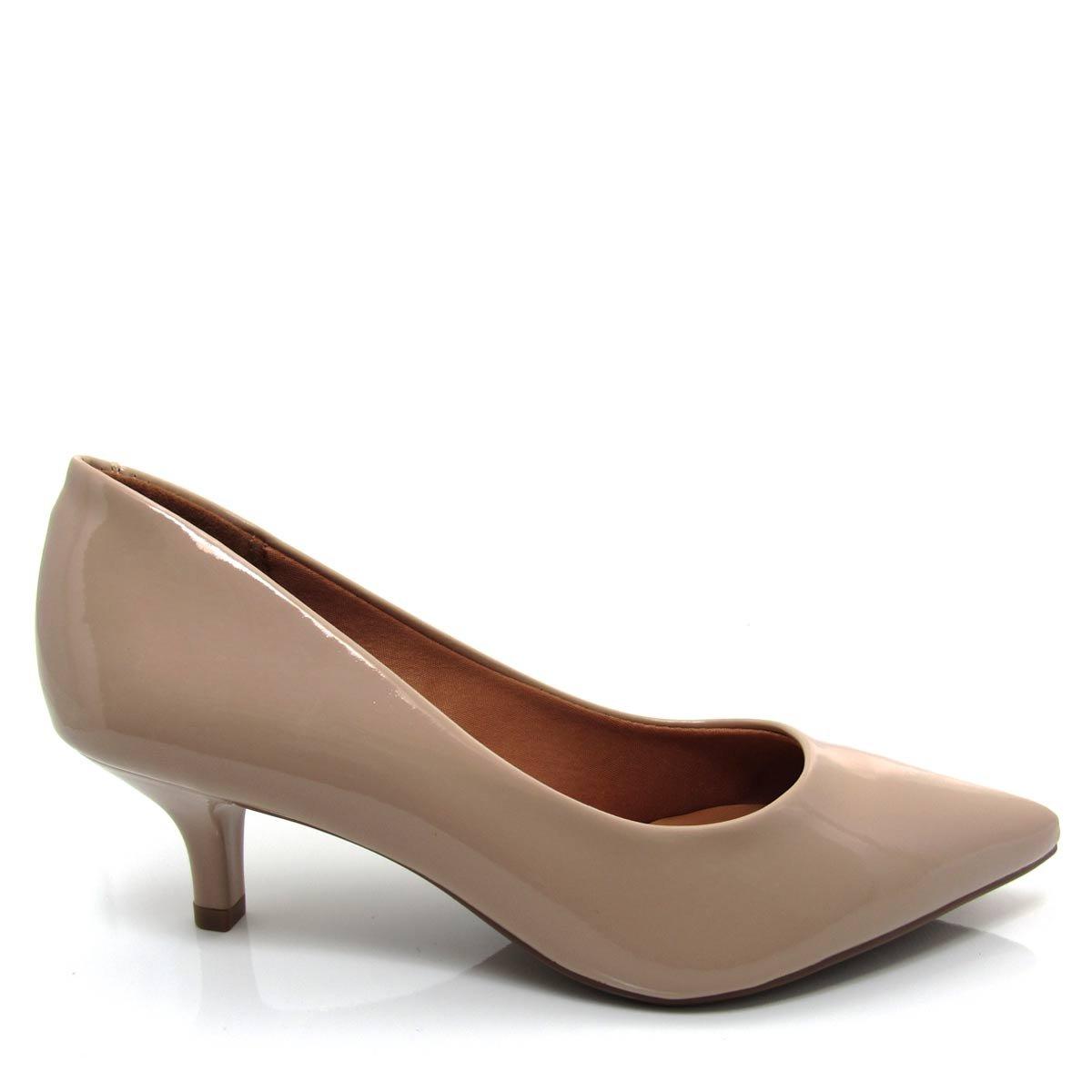 5f0e106c4a Sapato Scarpin Feminino Vizzano Bico fino 1122600 Salto Baixo Coleção 2018