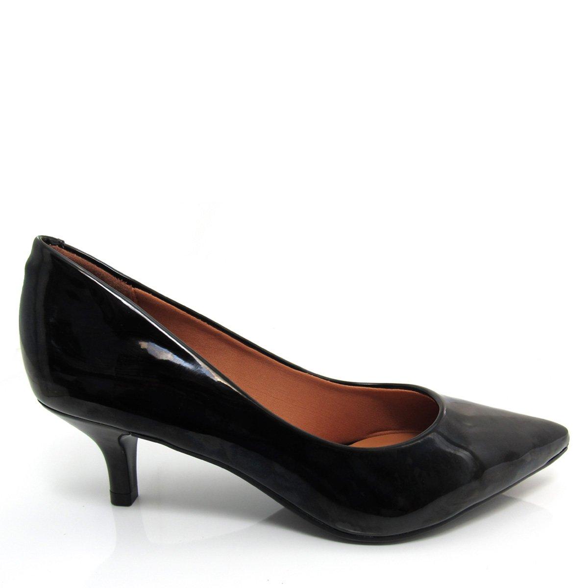 49b9e25105 Sapato Scarpin Feminino Vizzano Bico fino 1122600 Salto Baixo Coleção 2018