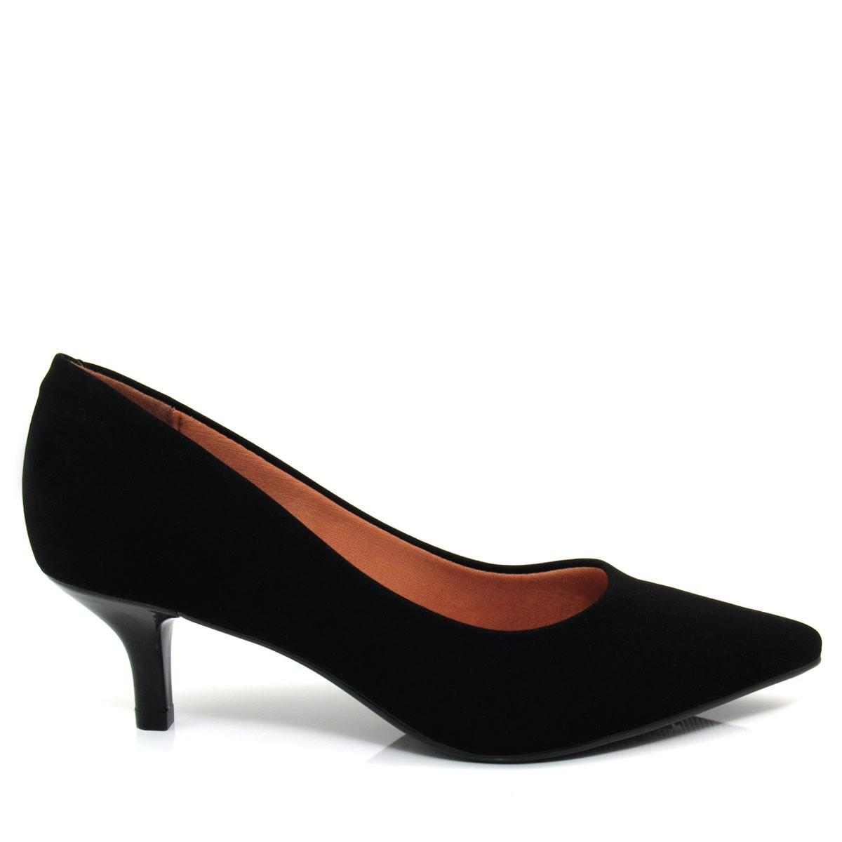 7adc5eb22b Sapato Scarpin Feminino Vizzano Bico fino 1122600 Salto Baixo Coleção 2018
