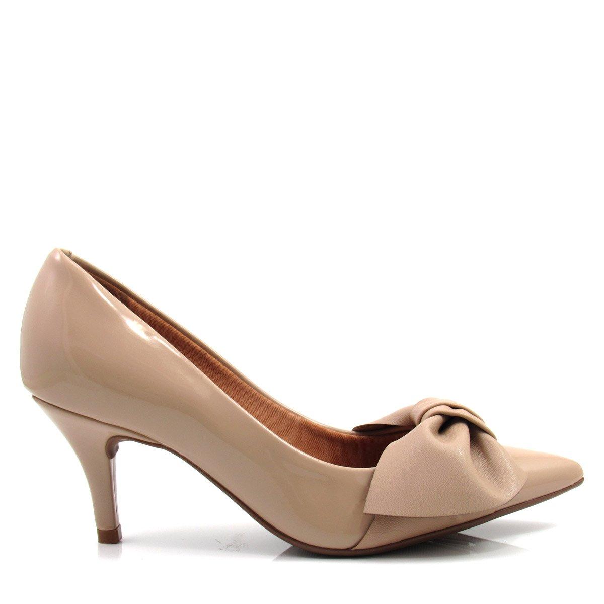 82742fc02 Sapato Scarpin Feminino Salto Fino Vizzano 1185151 Coleção 2018