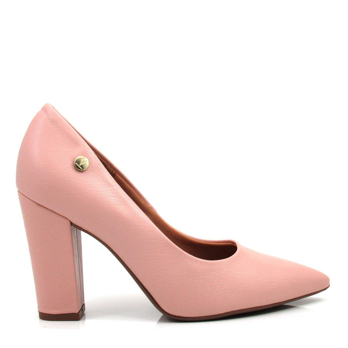 dd15cc5209 Sapato Feminino Scarpin Salto Grosso Vizzano 1264100 Coleção 2018