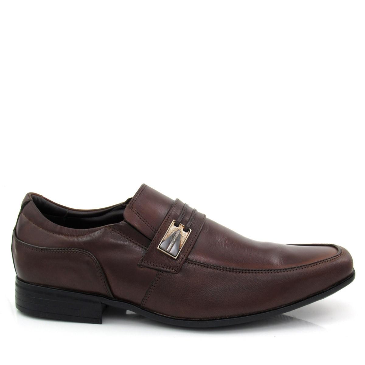 71d617821 Sapato Social Masculino em Couro Calvest 2330B904 Coleção 2018