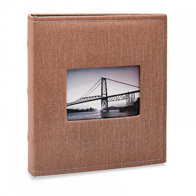 Álbum para 400 fotos 11,4x15cm - Prestige com Janela 483 - Ampliável