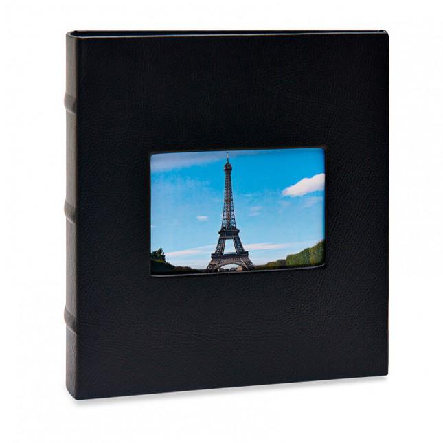 Álbum para 200 fotos 10x15cm - Black com Janela 750 - Ampliável