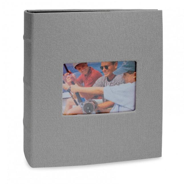 Álbum para 200 fotos 10x15cm - Black com Janela 793 - Ampliável