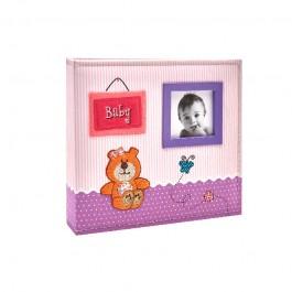 Imagem - Álbum para 150 fotos ( 100 10x15cm + 50 15x21cm ) - Bebê com Diário 801 - Ampliável