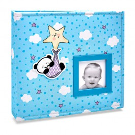 Imagem - Álbum para 150 fotos ( 100 10x15cm + 50 15x21cm ) - Bebê com Diário 818 - Ampliável
