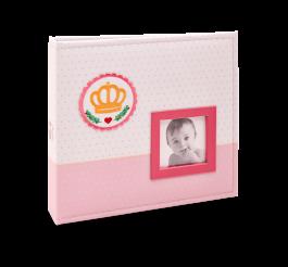 Imagem - Álbum para 150 fotos ( 100 10x15cm + 50 15x21cm ) - Bebê com Diário 821 - Ampliável