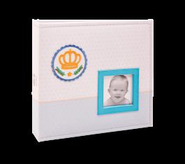 Imagem - Álbum para 150 fotos ( 100 10x15cm + 50 15x21cm ) - Bebê com Diário 822 - Ampliável