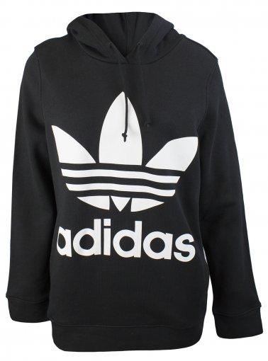 Trefoil Hoodie Black Kids | Adidas trefoil hoodie, Black