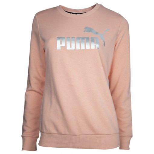 Blusão Moletom Puma Ess+ Metallic Logo Crew Feminino