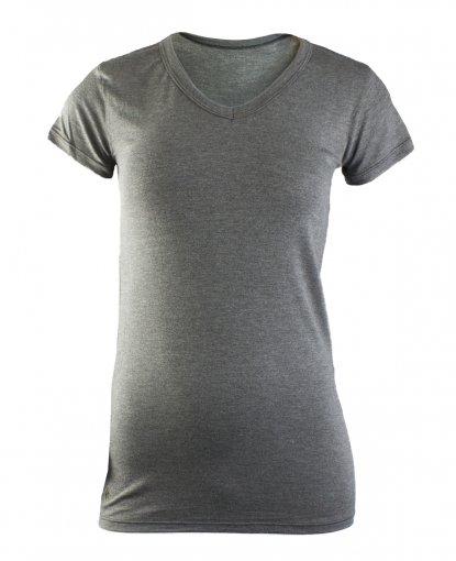 Camiseta Rola Moça Viscose Alongada Feminina