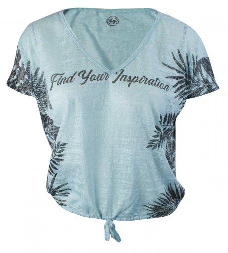 Camiseta Rola Moça Devore Feminina