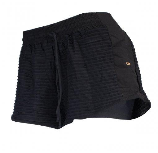 Shorts 2 Em 1 Alto Giro Sheer Drape Feminino