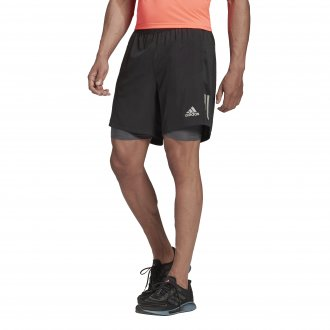 Imagem - Bermuda 2em1 Adidas Microfibra Own The Run 2n1 Masculina cód: 058694