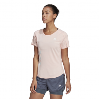 Imagem - Camiseta Adidas Poliéster Fast 3 Stripes Run It Feminina cód: 057877