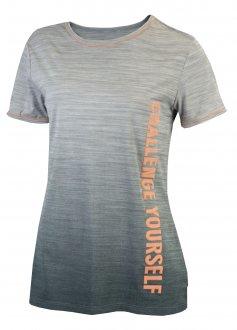 Imagem - Camiseta Alto Giro Skin Fit Rajado Degrade Crs Feminina cód: 049510
