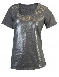 Imagem - Camiseta Rola Moça Brilho Feminina cód: 049432