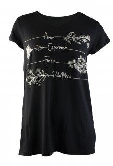 Imagem - Camiseta Rola Moça Longline Feminina cód: 049219
