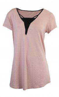 Imagem - Camiseta Rola Moça Longline Feminina cód: 049415