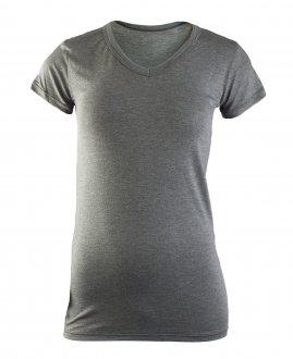 Imagem - Camiseta Feminina Rola Moça Viscose Alongada cód: 049209