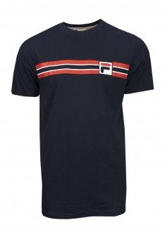 Imagem - Camiseta Fila Algodão Stripe Masculina cód: 057829