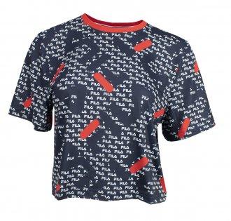 Imagem - Camiseta Fila Poliéster Cropped Full Acqua Trek Feminina cód: 057841
