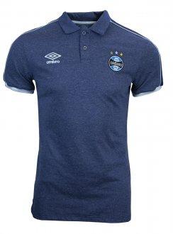 Imagem - Camiseta Polo Umbro Grêmio Viagem 2019 Masculina cód: 051408