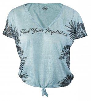 Imagem - Camiseta Rola Moça Devore Feminina cód: 053291
