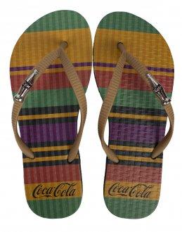 Imagem - Chinelo Coca Cola Colored Lines Feminino cód: 058946