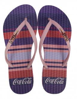 Imagem - Chinelo Coca Cola Colored Lines Feminino cód: 058952