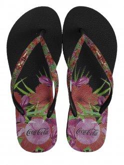 Imagem - Chinelo Coca Cola Hibiscus Feminino cód: 058930